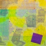 yellow painting with purple square